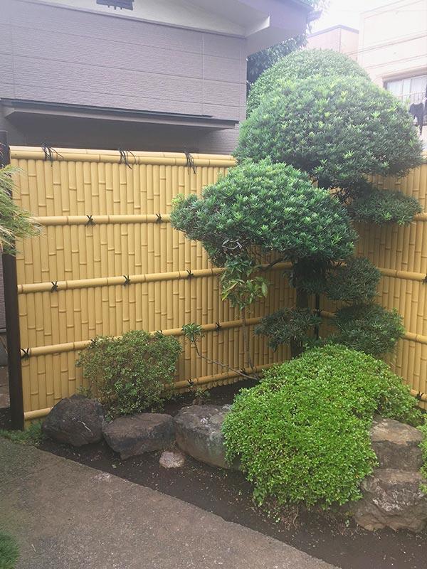施工後:東京都/古い竹垣の撤去と新竹垣の施工
