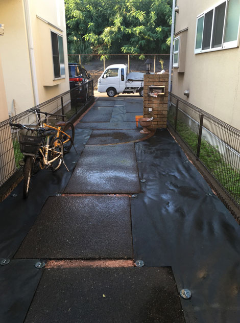 施工後:東京都/除草と防草シートの施工