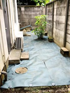 施工後:東京都中野区/除草と防草シートの施工
