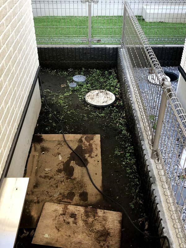 施工前:東京都小金井市/枕木を使用したお庭づくり
