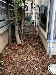 施工前:東京都清瀬市/人工芝張り・砂利敷